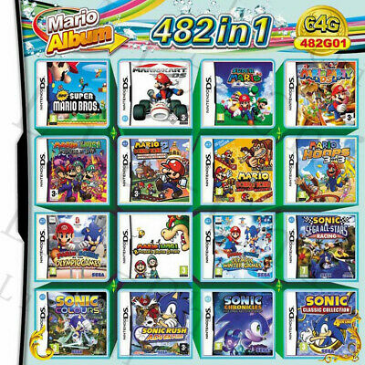 482 In 1 Video Game Cartridge Console Card For Nintendo DS 2DS 3DS NDS NDSL NDSI
