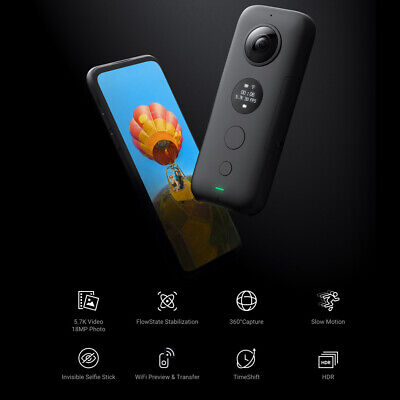 Insta360 ONE X Sport Action Camera 360°Panoramic 5.7K WiFi 18MP Videocamera