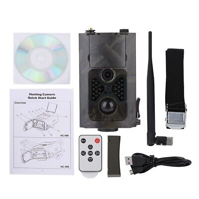 Fototrappola Scouting Videocamera MMS MAIL GSM 2G IR 24LED HD 16MP Caccia Camera