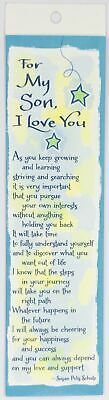 Blue Mountain Arts: For My Son I Love You Bookmark Bookend Birthday Stationary