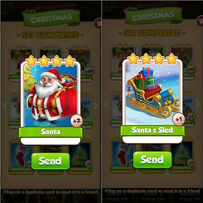 Santa and Santa's sled Coinmaster Card - Trusted 🇬🇧 Seller - Fast Delivery