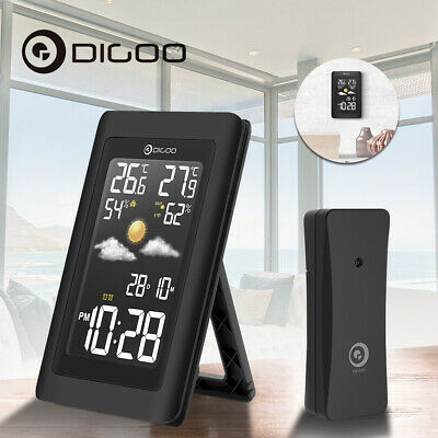 Digoo Wireless HD Color Screen USB In&Out Weather Forecast Station With