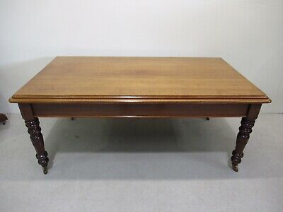Victorian Mahogany Refectory Farmhouse Dining Table Kitchen Table Antique Table