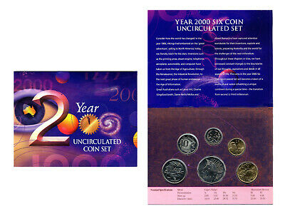 "2000 Uncirculated Australian Mint Set: ""Millennium."""