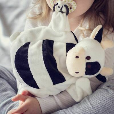 Cow Sleepytot Soft Baby Comforter Toy Soother Dummy Holder Clip Black White UK