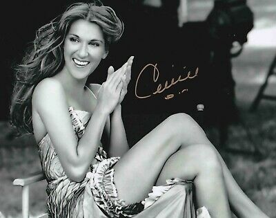 Celine Dion Authentic Signed 10X8 Photo Aftal#198