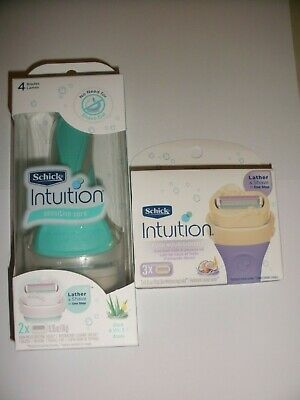 (1) Schick Intuition Sensitive Care Women's Razor w/2 refills plus 3ct refills