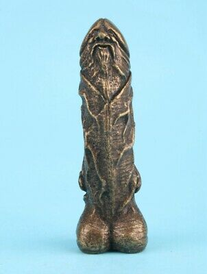 Unique Chinese Old Bronze Hand-Cast Art Old Man Statue Gift Collection