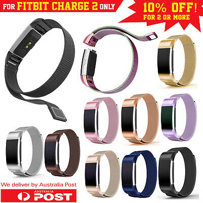 For Fitbit Charge 2 Band Metal Stainless Steel Milanese Strap Bracelet Wristband