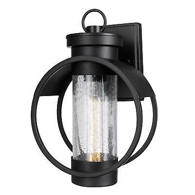 """Globe Electric 44193  Balvin Single Light 12"""" Tall Outdoor Wall Sconce - Black"""