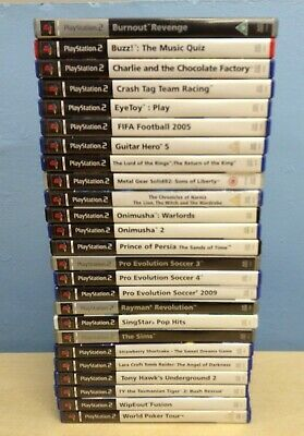 Large Lot of Playstation 2 PS2 Games