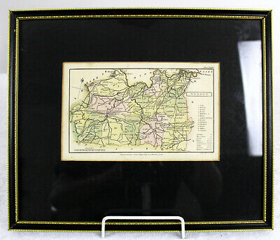 OLD MAP OF Surrey showing Guilford and London in a FRAME WITH FREE POSTAGE