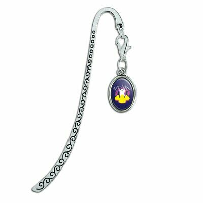 Peep A Boo Ghost Halloween Metal Bookmark Page Marker with Oval Charm