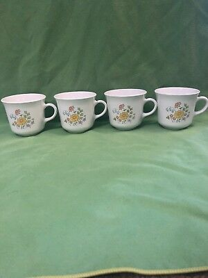Set of 4 Corelle Spring Meadow Coffee Mugs Cups