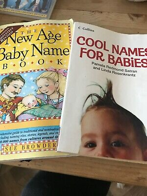 Baby Name Books X2 Cool Names For Babies New Age Baby Name Book