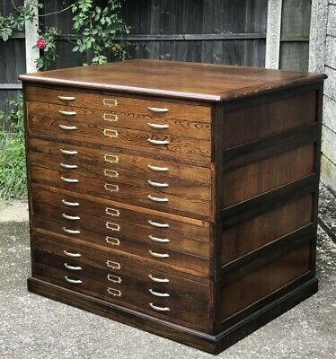 Rare Large Antique 12  Drawer Plan Artists Chest Delivery Available