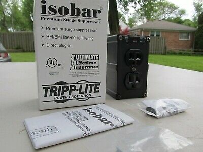 2 Tripp Lite Isobar ULTRABLOK 428 Dual Outlet Surge Suppressors with Diagnostics
