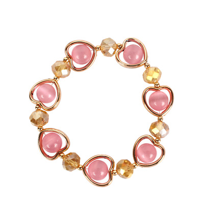 USA Fashion Women Crystal Small Love Beads Bracelet Women's Party Jewelry Gifts