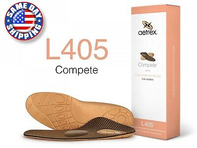 Aetrex L405 Women's Sport Compete MED/HIGH ARCH W/ Metatarsal Support Orthotic