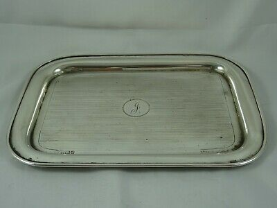 SMART solid silver ART DECO DRESSING TABLE TRAY, 1942, 388gm