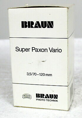 Braun Dia Projector Tele-Zoom Super-Paxon Vario 3,5/70-120 Projection Lens - NEW