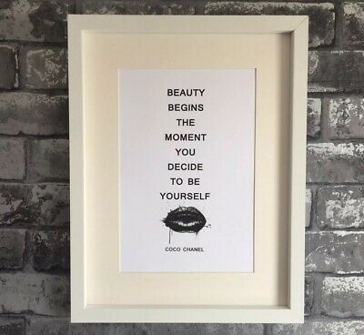 Fashion Wall Art Coco Chanel Quote A4 print Bedroom, Bathroom, Kitchen, Gift #WB