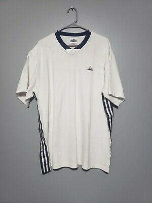 38bd4d795e00e VINTAGE 90S ADIDAS White Tag Mens M Blue Pocket Tee Made In USA 3 ...