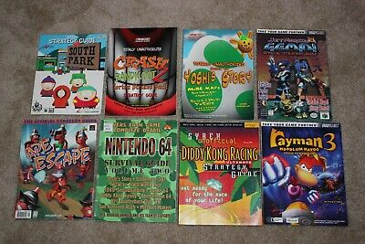 Lot of 8 N64 Nintendo 64 Strategy Guides! Tips, Tricks, Hints! Diddy Kong, Yoshi