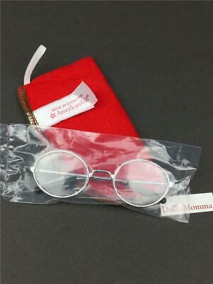 AMERICAN GIRL MOLLY'S Silver Round Meet Eye GLASSES~Red Felt CASE~sealed package