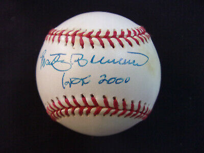Marty Brennaman Reds Broadcaster Signed Rawlings NL Leonard S. Coleman Baseball