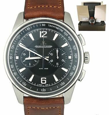 Jaeger LeCoultre JLC Polaris Chronograph Q9028471 Leather Stainless Watch 42mm