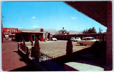 EL PASO, Texas  TX   Roadside  SPINDLER'S MOTEL  ca 1950s Cars  Postcard