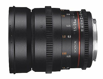 Rokinon Cine DS 24mm T1.5 ED AS IF UMC Full Frame Cine Lens for Nikon DSLR