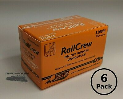 HO Rapido 320002 RailCrew On-Off Remote Uncouplers - 6-Pack