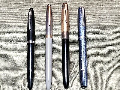 Vintage Lot of 4 Fountain Pens Parker Sheaffers Esterbrook Gold Filled