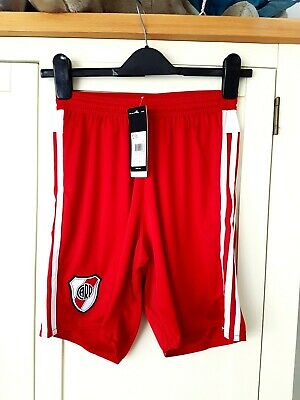 River Plate Away Shorts 2016. Small Adults. Adidas Red Football Genuine Only S.