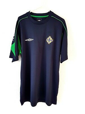 Northern Ireland Training Shirt. Medium. Umbro. Blue Adults Short Sleeves Top M.