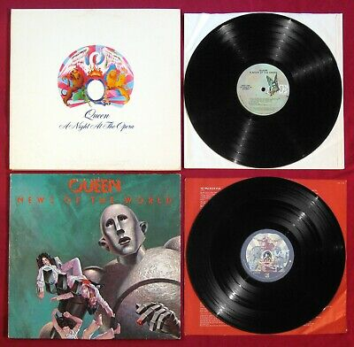 QUEEN 2-LP Lot News Of The World A NIGHT AT THE OPERA