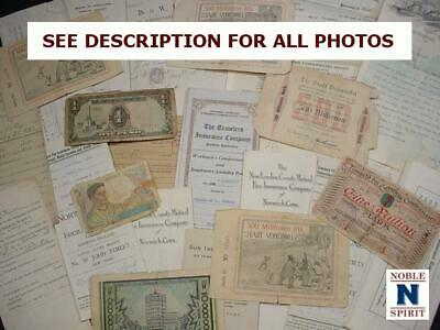 NobleSpirit  NO RESERVE (RT) 19th Century Currency, Deeds, & Documents Coll