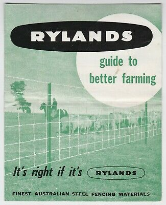 Rylands Steel fencing Australian Guide to Better Farming OLD BROCHURE 1950's