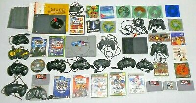 Huge Lot VIDEO GAME CONSOLES+CONTROLLERS+VIDEO GAMES for PS Wii XBOX Nintendo PC