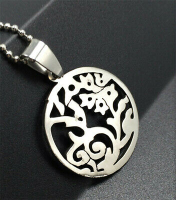 Women's Girl Fashion Silver 316L Stainless Steel Titanium Pendant Necklace NEW !