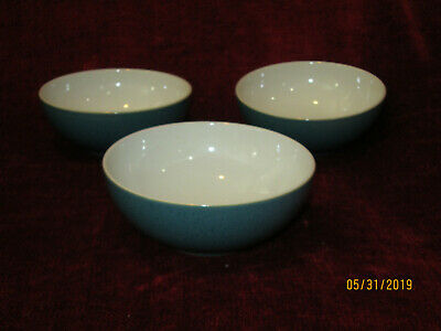 Denby Harliquin lite set of 3 soup / cereal bowls 6 3/4""