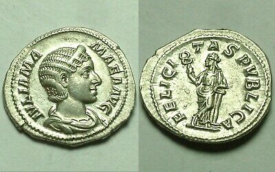 Gordian 240AD antoninianus Original ancient Roman Silver coin Heracles club rock