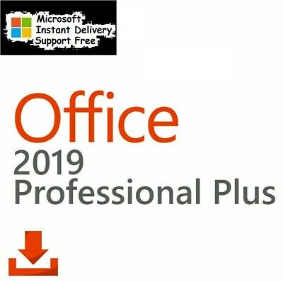 Microsoft Office Pro Plus 2019 32/64-Bit✔ Instant delivery ✔ Life time✔ Ms 2019