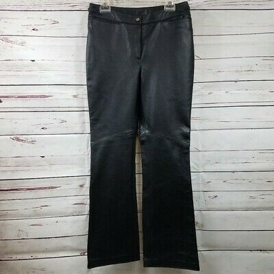 Harley-Davidson Women's Leather Bootcut Riding Pants SZ 8