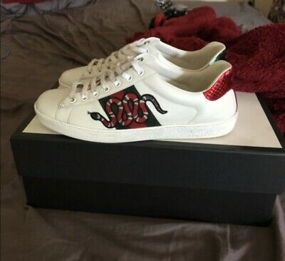 d850f1ba0 NEW MENS GUCCI Ace Embroidered Bee Shoes Sneakers Size 10 - $400.00 ...