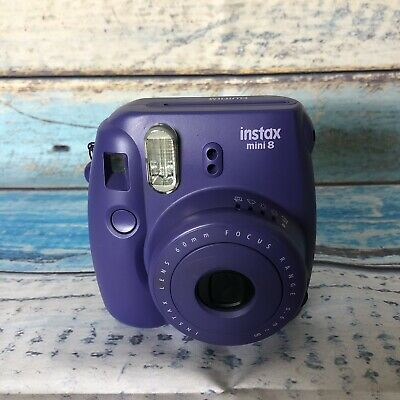 Fujifilm Instax Mini 8 Instant Film Camera Purple No Battery Cover