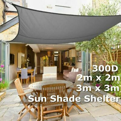 300D Sun Shade Sail Outdoor Garden Waterproof Awning Canopy Patio Cover UV