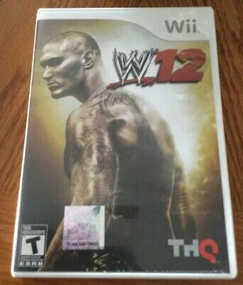 WWE '12 (Nintendo Wii, 2011) W/Manual